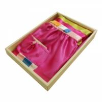 한복색동앞치마(핑크)
