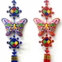 나비문 전통자수매듭