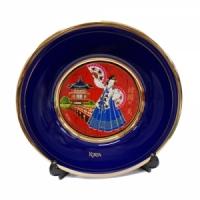 부채춤 접시 (대)