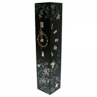 나비당초 자개 시계(검정)