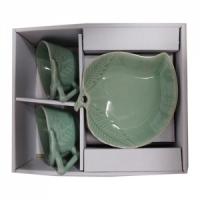 청자단풍잎부부커피잔
